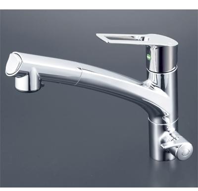 KVK 浄水器付シングルレバー式シャワー付混合栓 (eレバー) KM5061NSCEC
