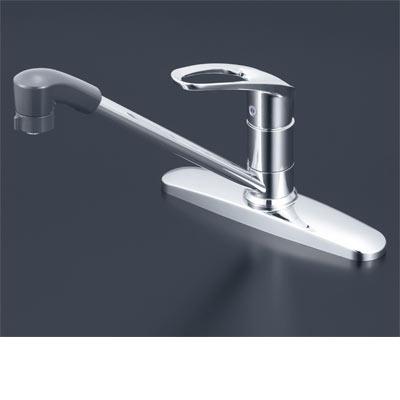 KVK 流し台用シングルレバー式シャワー付混合栓(eレバー) 【KM5091TFEC】[新品]