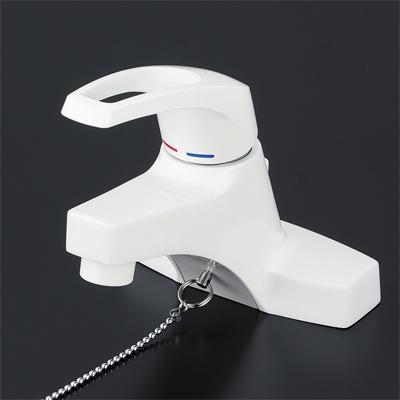KVK 洗面用シングルレバー式混合栓 ゴム栓付 KM7014