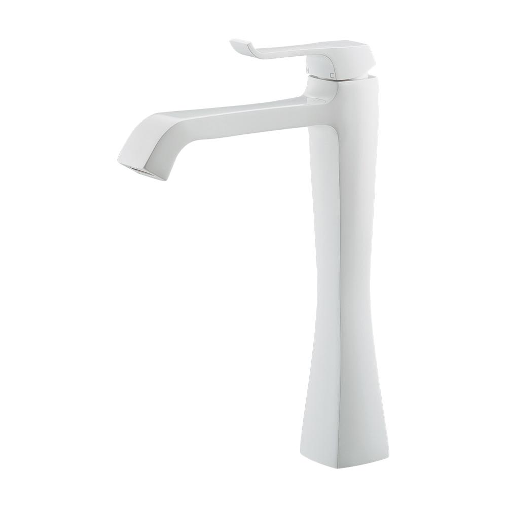 カクダイ KAKUDAI シングルレバー混合栓 (トール) ホワイト 183-165-W 水栓金具・器