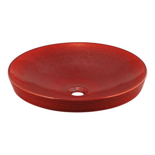 カクダイ KAKUDAI 丸型洗面器//鉄赤 【493-014-R】 水栓金具・器