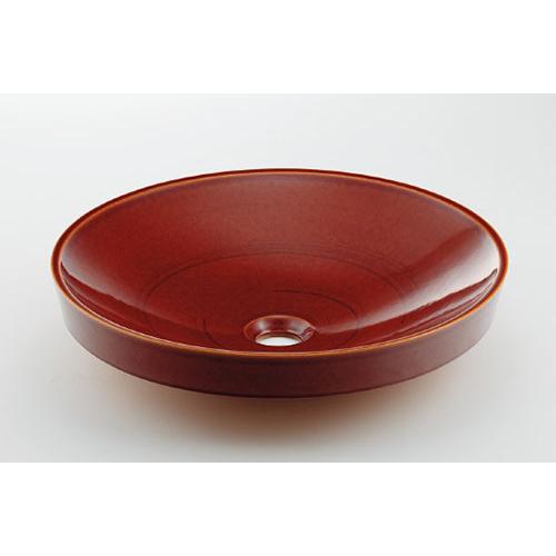 カクダイ KAKUDAI 丸型洗面器 飴 493-049-BR 水栓金具・器