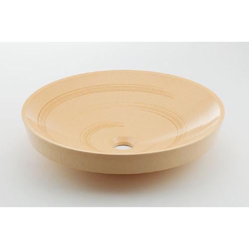 カクダイ KAKUDAI 丸型洗面器 亜麻 493-049-CR 水栓金具・器