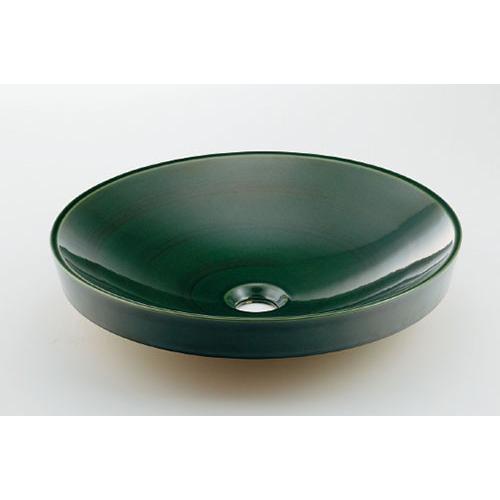 カクダイ KAKUDAI 丸型洗面器 青竹 493-049-GR 水栓金具・器