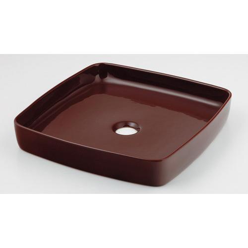 カクダイ KAKUDAI 角型手洗器 ショコラ 493-096-BR 水栓金具・器