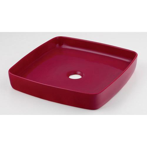 カクダイ KAKUDAI 角型手洗器 ラズベリー 493-096-R 水栓金具・器