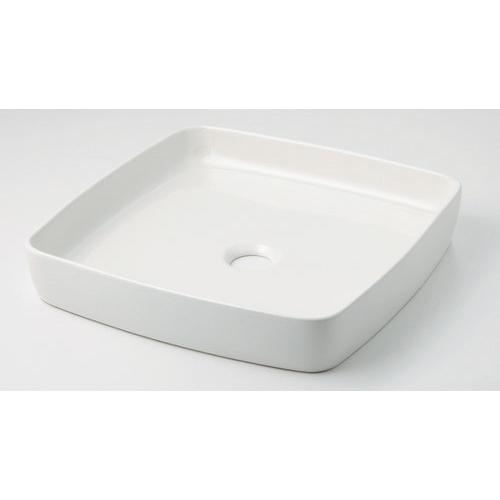 カクダイ KAKUDAI 角型手洗器 シュガー 493-096-W 水栓金具・器