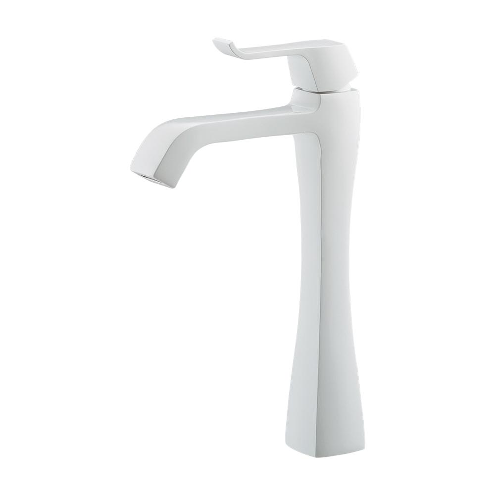 カクダイ KAKUDAI シングルレバー立水栓 (ミドル) ホワイト 716-239-W 水栓金具・器