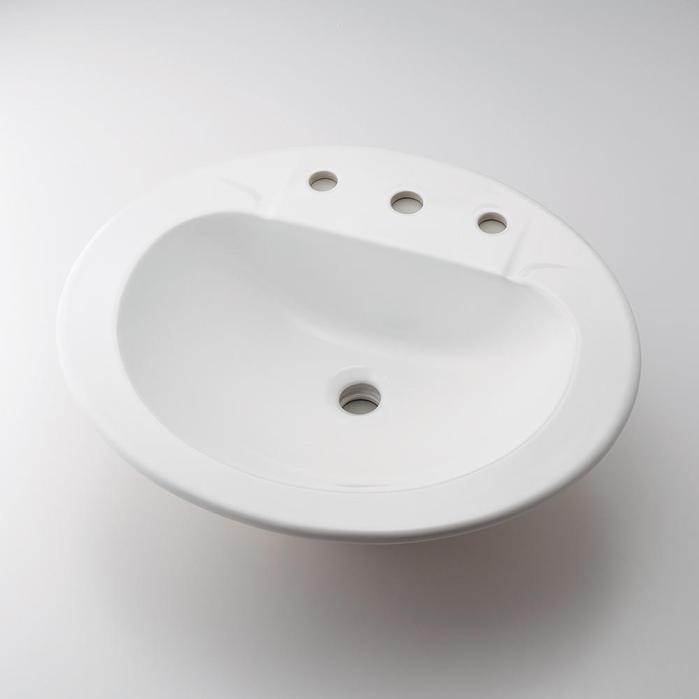 カクダイ KAKUDAI 丸型洗面器 3ホール #CL-K1001AC 水栓金具・器