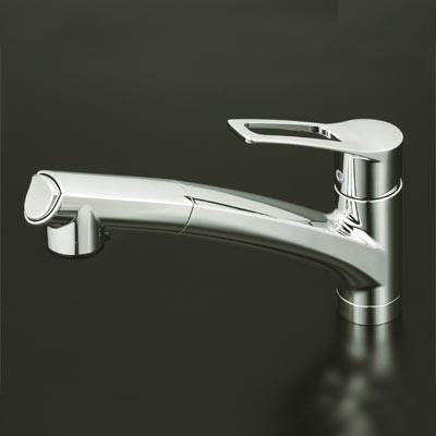 KVK シングルレバー式シャワー付混合栓 (シャワー引出し式) 【KM5021T】[新品]