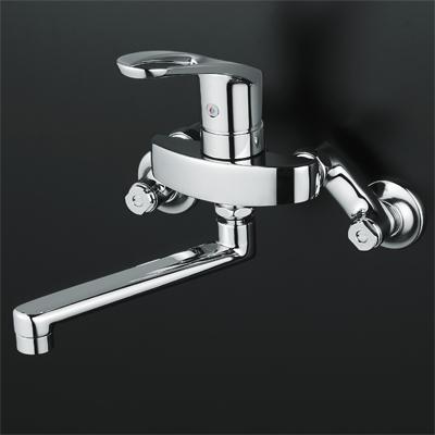 KVK シングルレバー式混合栓 240ミリパイプ付 【KM5000TR2】KM5000T フルメタルseries シングルレバー混合栓【KM5000TR2】[新品]