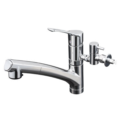 KVK 流し台用シングルレバー式シャワー付混合栓 KM5021ZTTU KM5021TTU series 給水・給湯接続/シングルレバー混合栓 KM5021ZTTU
