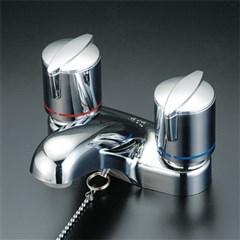 KVK 洗面用2ハンドル混合栓 ゴム栓付 固定こま KM66ZGB 2ハンドル混合栓series KM66ZGB