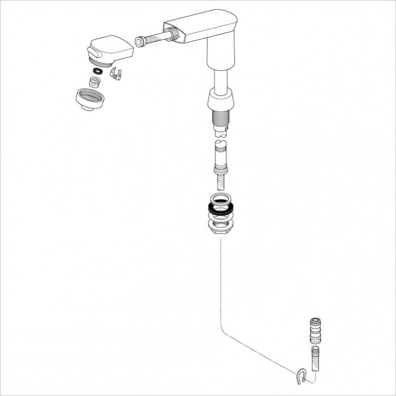 KVK HC582-A/800 旧MYM洗髪水栓用ホルダーホワイト 旧MYM補修部品 旧MYMキッチン・洗面シャワー部品