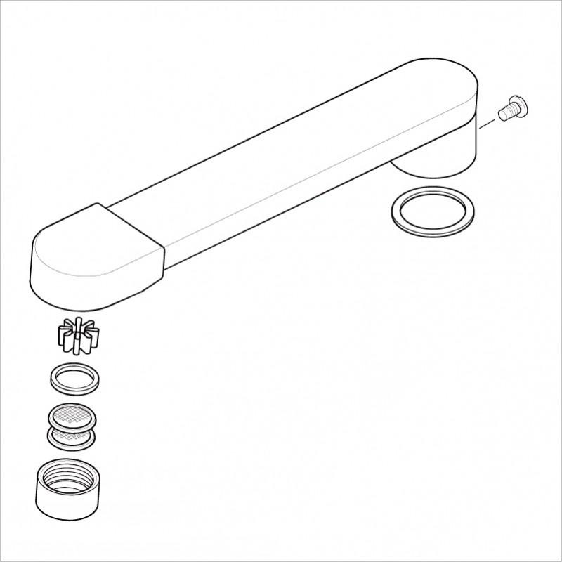 KVK 【Z486CP/800】 吐水口 KVK補修部品>パイプ関連 [新品]