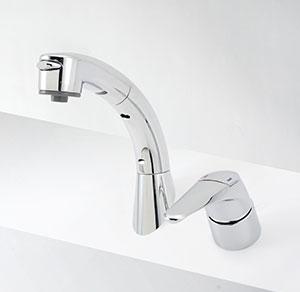 福袋 寒冷地用 洗面化粧室 傾斜タイプ:換気扇の激安ショップ シングルレバー式洗髪シャワー プロペラ君 KVK KM8019ZT-木材・建築資材・設備