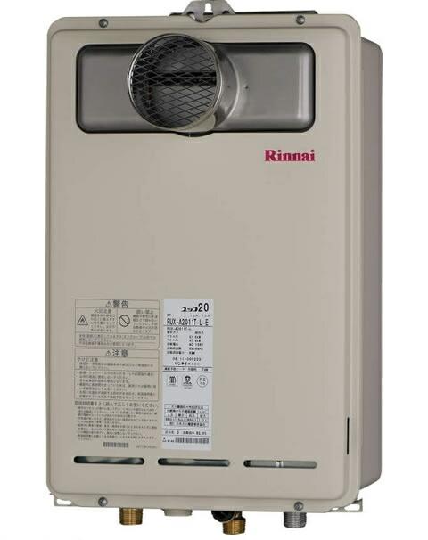 RUX-A2000T-L-E リンナイ ガス給湯器 20号 給湯専用 屋外・壁掛・PS PS扉内設置型/PS延長前排気型 給湯・給水接続20A ユッコ 音声ナビ RUXA2000TLE