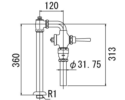 LIXIL リクシル 【CF-110BUT】 シリーズ名: シリーズ外 品名: 低圧用フラッシュバルブ