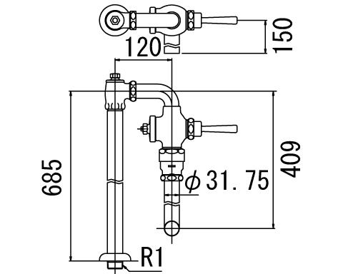 LIXIL リクシル 【CF-13UT】 シリーズ名: シリーズ外 品名: 低圧用フラッシュバルブ