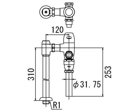 LIXIL リクシル 【CF-510BUP】 シリーズ名: シリーズ外 品名: 一般用フラッシュバルブ(節水形)