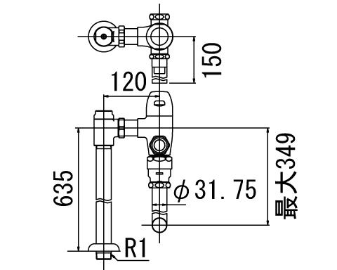LIXIL リクシル 【CF-53UP】 シリーズ名: シリーズ外 品名: 一般用フラッシュバルブ(節水形)