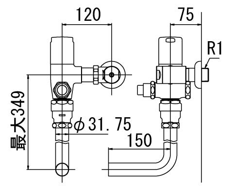 LIXIL リクシル 【CF-T60P-C】 シリーズ名: シリーズ外 品名: 一般用フラッシュバルブ(節水形)(中水用)