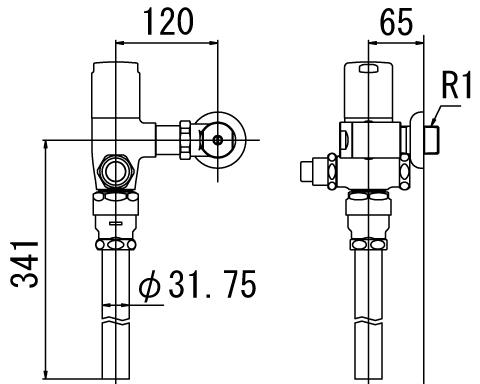 LIXIL リクシル 【CF-T6112P】 シリーズ名: シリーズ外 品名: 一般用フラッシュバルブ(節水形)