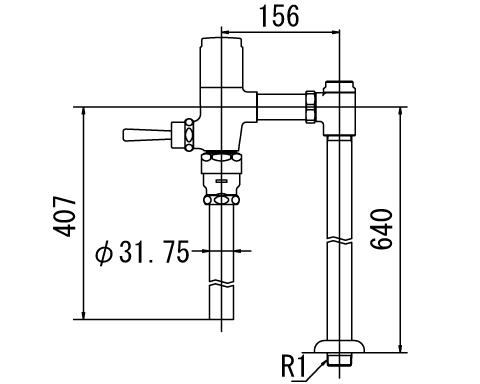 INAX トイレ フラッシュバルブ【CF-T6114HA】 寒冷地用 洗浄水量6-8L便器用(定流量弁付フラッシュバルブ) 上水用[納期4週間] 【CFT6114HA】 INAX・イナックス・LIXIL・リクシル