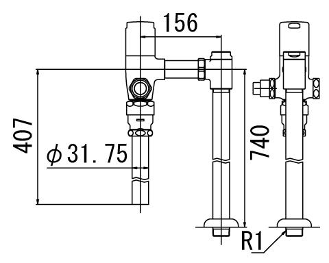 LIXIL リクシル 【CF-T6115PA】 シリーズ名: シリーズ外 品名: 一般用フラッシュバルブ(節水形)