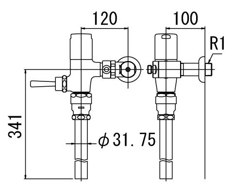 LIXIL リクシル 【CF-T7110HCW】 シリーズ名: シリーズ外 品名: 流動式フラッシュバルブ(節水形)