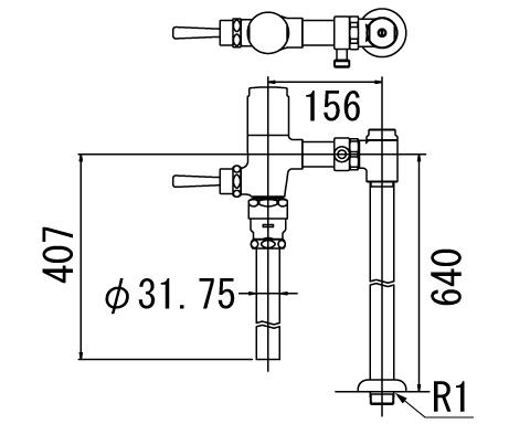 LIXIL リクシル 【CF-T7114HCWA】 シリーズ名: シリーズ外 品名: 流動式フラッシュバルブ(節水形)
