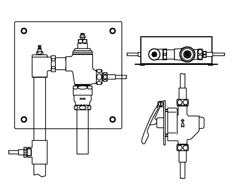 LIXIL リクシル 【CFR-681UPK】 シリーズ名: シリーズ外 品名: 埋込形レバー式リモコンフラッシュバルブ(節水形)