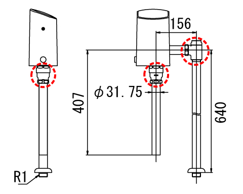LIXIL リクシル 【OKC-5114UA】 シリーズ名: オートフラッシュC 品名: オートフラッシュC セパレート形 自動フラッシュバルブ(床給水形)