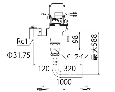 LIXIL リクシル 【OKC-T780N-1-C】 シリーズ名: オートフラッシュC 品名: オートフラッシュC セパレート形 自動フラッシュバルブ(ボックス無・埋込形)