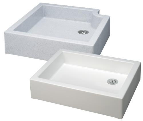 4個セット 上水道関連製品 水栓柱/水栓パン 水栓パン スクエアパン / キューブパン SP-USQ550ホワイト Mコード:14701 前澤化成工業