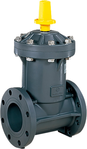 上水道関連製品 ビニベンゲート/バタフライ ビニゲート GB10Kフランジ形 1型 (キャップ式/左開き) GB1-150 Mコード:15006N 前澤化成工業