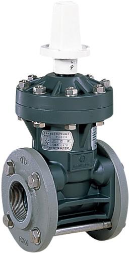 上水道関連製品>ビニベンゲート/バタフライ>ビニゲート GN ネジ込み形 1型 (キャップ式/左開き) GN1-50 Mコード:15071 前澤化成工業