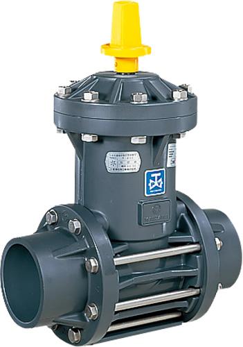 上水道関連製品>ビニベンゲート/バタフライ>ビニゲート GS 接着形 1型 (キャップ式/左開き) GS1-100 Mコード:15107 前澤化成工業