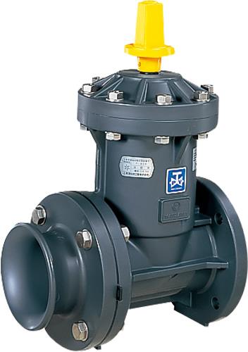 上水道関連製品>ビニベンゲート/バタフライ>ビニゲート GH流出形ラッパ口付 1型 (キャップ式/左開き) GH2-75 Mコード:15171M 前澤化成工業