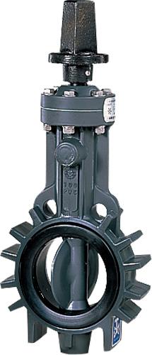 上水道関連製品>ビニベンゲート/バタフライ>バタフライ VK ウェハー形 VKCL型 キャップ式/左開き VKCL-125 Mコード:16051 前澤化成工業