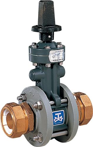 上水道関連製品>ビニベンゲート/バタフライ>バタフライ VTF VTFHL型 丸ハンドル式/左開き VTFHL-100 Mコード:16103 前澤化成工業