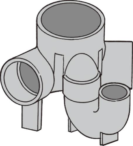 下水道関連製品 ビニマス M 100-150シリーズ 45度曲りトラップ付UT-45L M-UT45L右100X50S-150 Mコード:40525 前澤化成工業