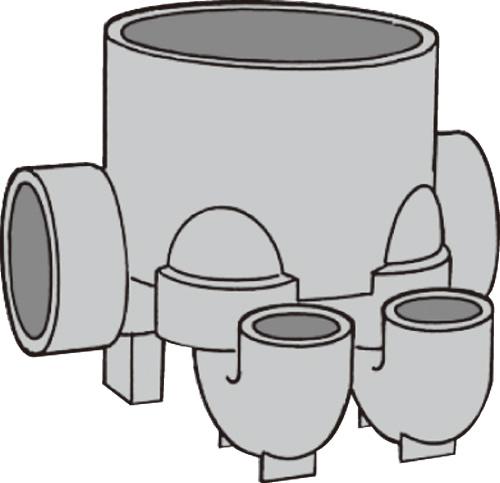 下水道関連製品 ビニマス MX 100-200シリーズ 2本トラップ (MX-UTW) MX-UTW左100X50S-200 Mコード:41113 前澤化成工業