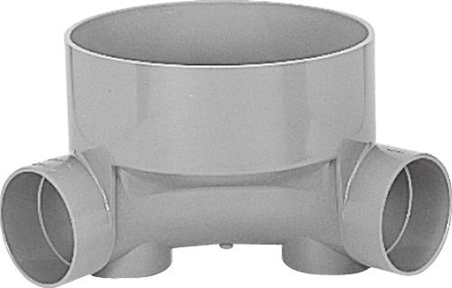 下水道関連製品 ビニマス M 100-300シリーズ 90度曲り (90L) M-90L左100-300 Mコード:41230 前澤化成工業
