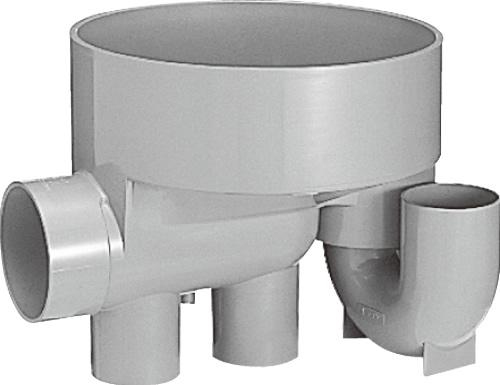 下水道関連製品>ビニマス>M 100-300シリーズ 起点トラップ(UTK) M-UTK100X100P-300 Mコード:41237 前澤化成工業