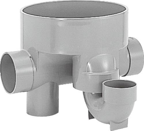 下水道関連製品>ビニマス>M 100-300シリーズ トラップ(UT) M-UT右100X100S-300 Mコード:41242 前澤化成工業