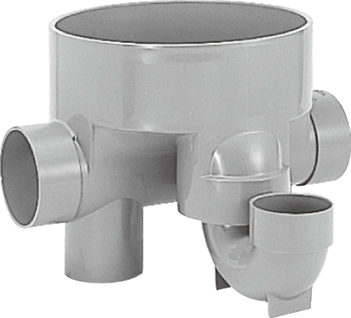 下水道関連製品>ビニマス>M 100-300シリーズ トラップ(UT) M-UT兼100X100S-300 Mコード:41243 前澤化成工業