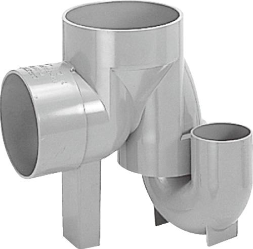 下水道関連製品>ビニマス>M 125-150シリーズ 起点トラップ(UTK) M-UTK125X100P-150 Mコード:41336 前澤化成工業