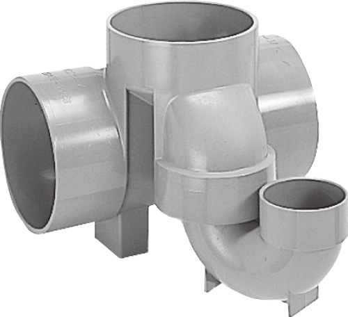 下水道関連製品>ビニマス>M 125-150シリーズ トラップ(UT) M-UT左125X75S-150 Mコード:41337 前澤化成工業