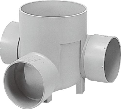 下水道関連製品 ビニマス M 125-200シリーズ 左右合流段差付 (WLS) M-WLS125-200 Mコード:41459 前澤化成工業